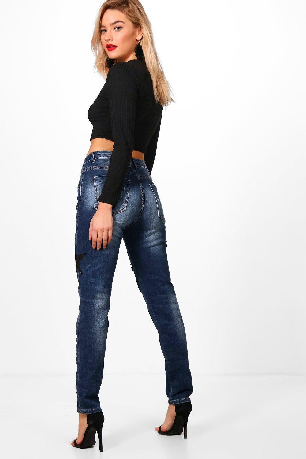4eda8565796a Gallery. Previously sold at: Boohoo · Women's Boyfriend Jeans ...