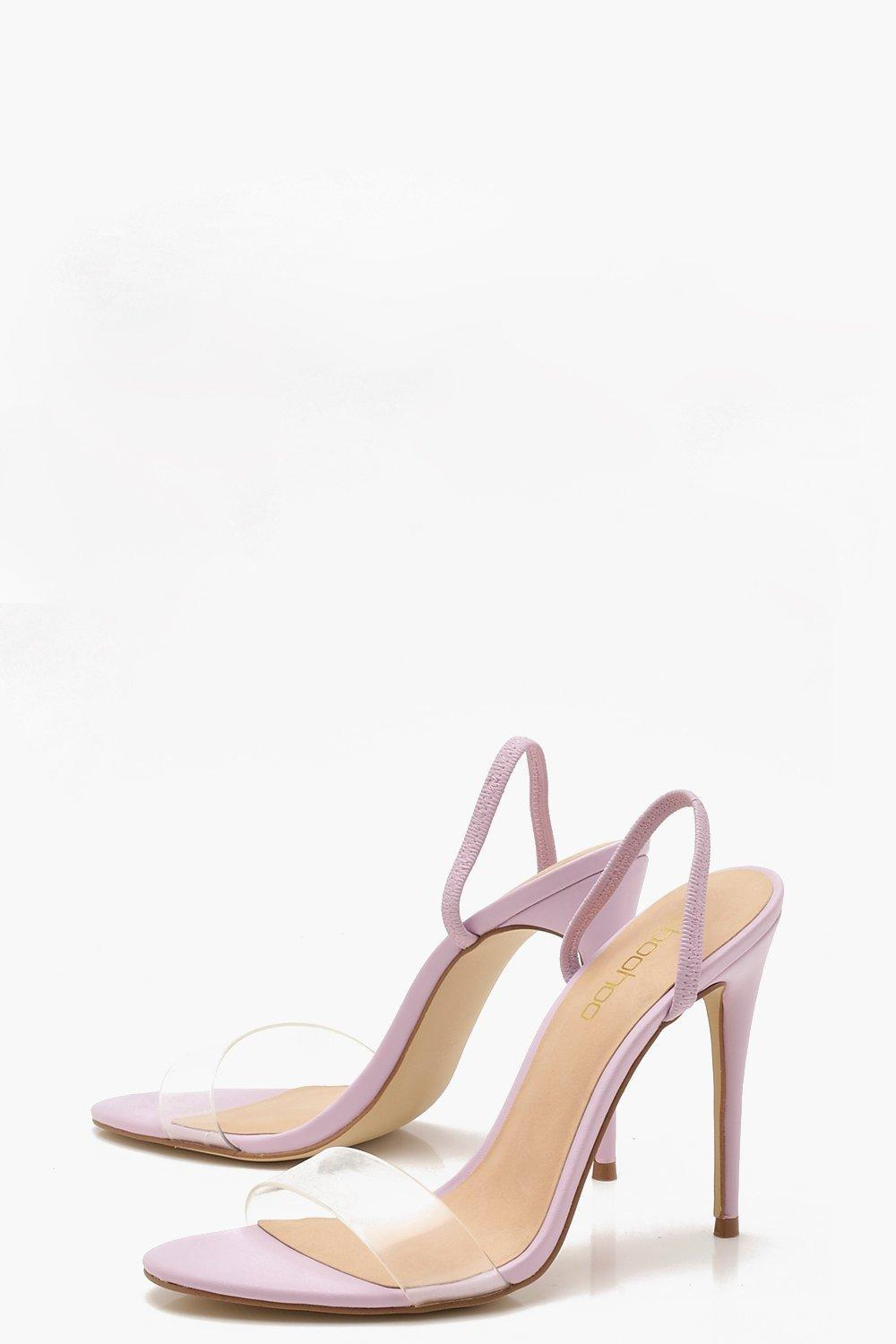 f4bc424db1a Boohoo - Purple Clear Strap Sling Back Heel Sandals - Lyst. View fullscreen