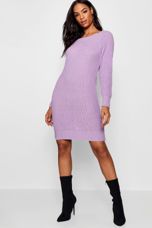 Boohoo Tall Weiches Strick Pulloverkleid Aus in Purple - Lyst 6e1d577a56