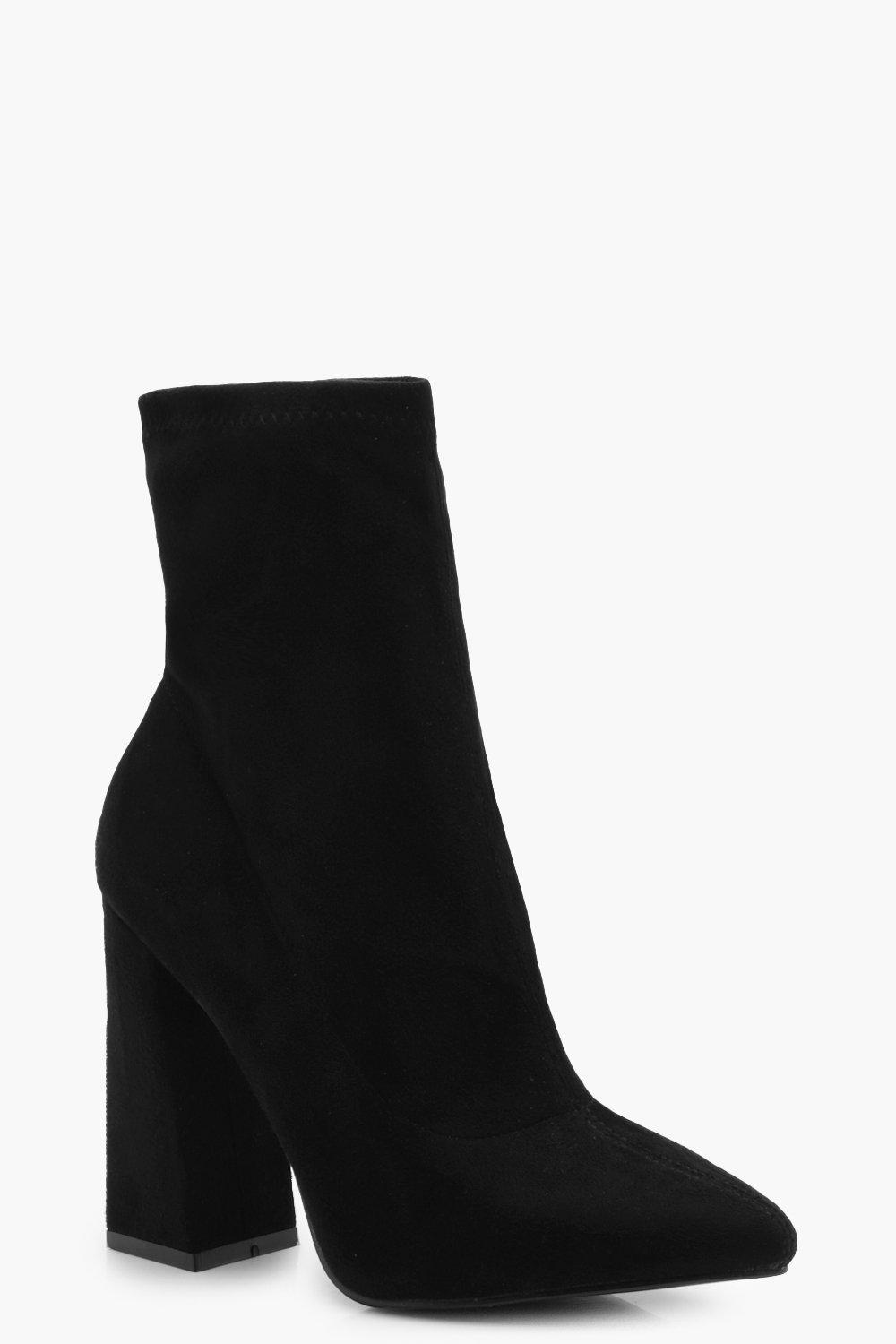 sale new arrival the best store to get Black suedette 'Bock' high block heel sock boots Q6iJZ