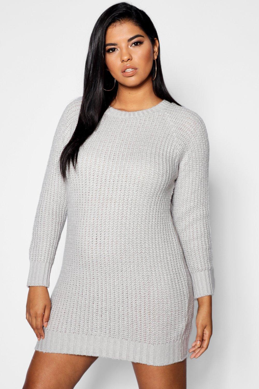 f930c5aa4ea Boohoo Plus Maria Soft Knit Jumper Dress in Metallic - Lyst