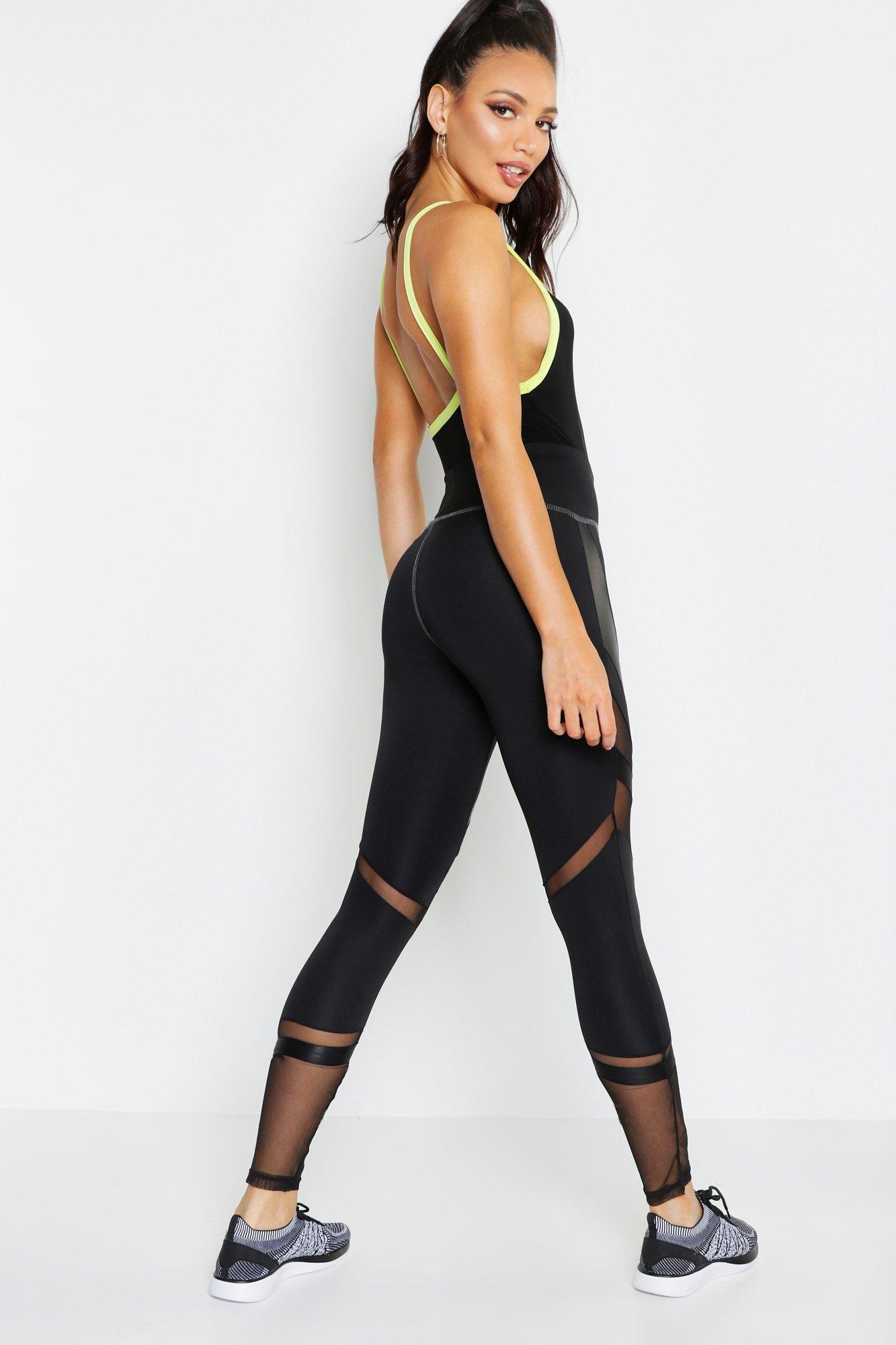 7f3fbfd361c0 Boohoo - Black Fit Premium Curved Panel High Waist Legging - Lyst. View  fullscreen