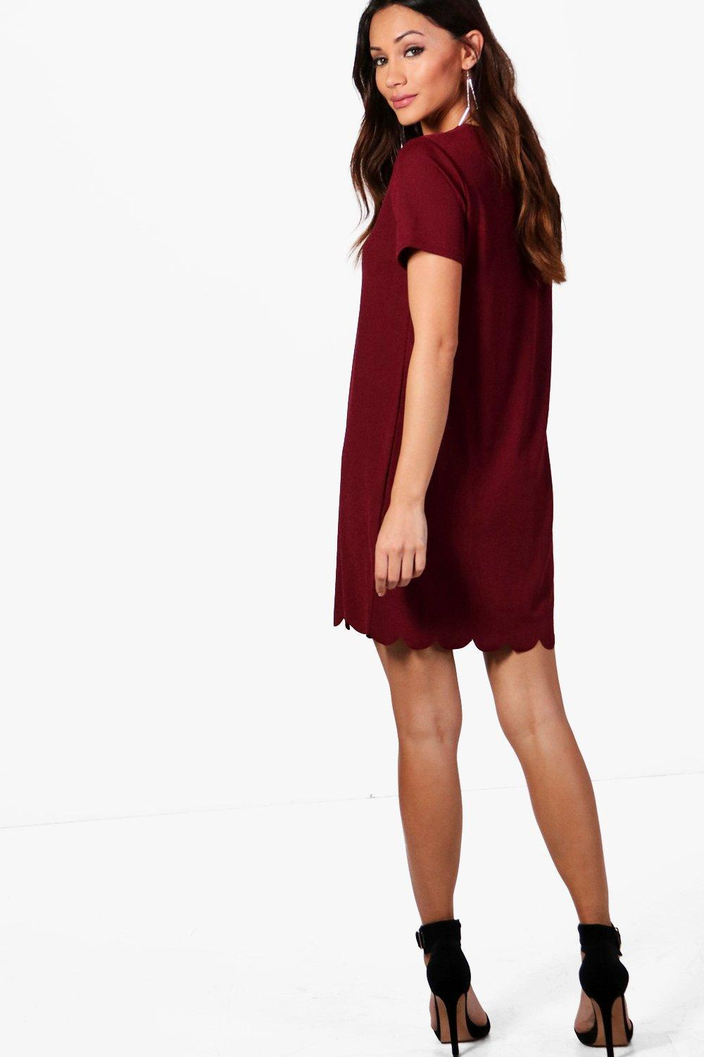 984fbb0ca6fd Gallery. Previously sold at: Boohoo · Women's Scalloped Dresses ...