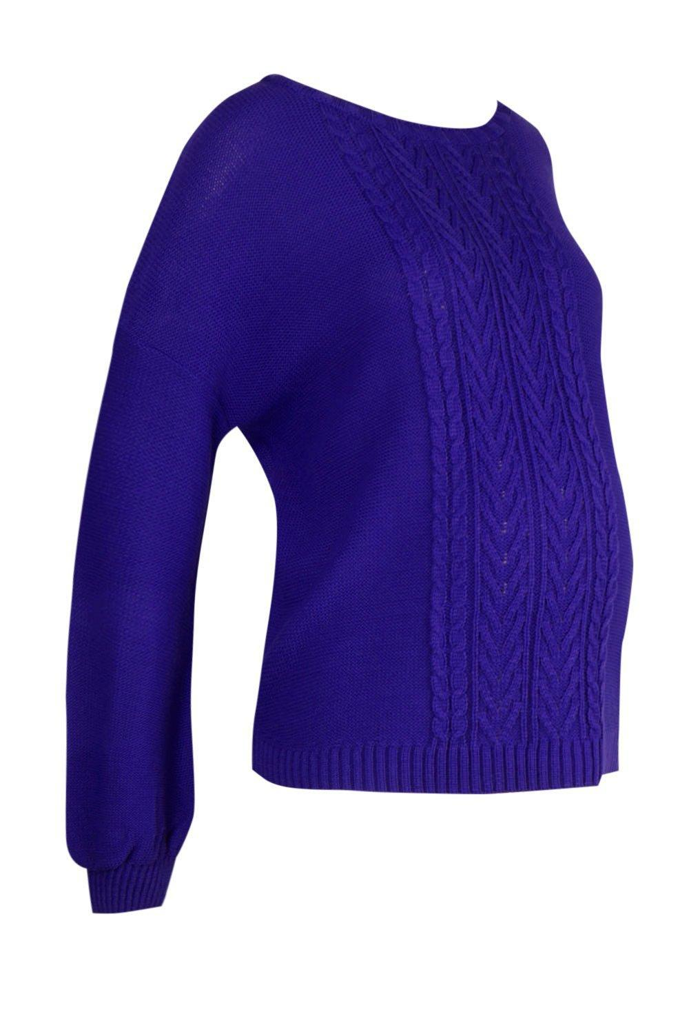 2765f157e87ee ... Maternity Cable Knitted Balloon Sleeve Jumper - Lyst. View fullscreen