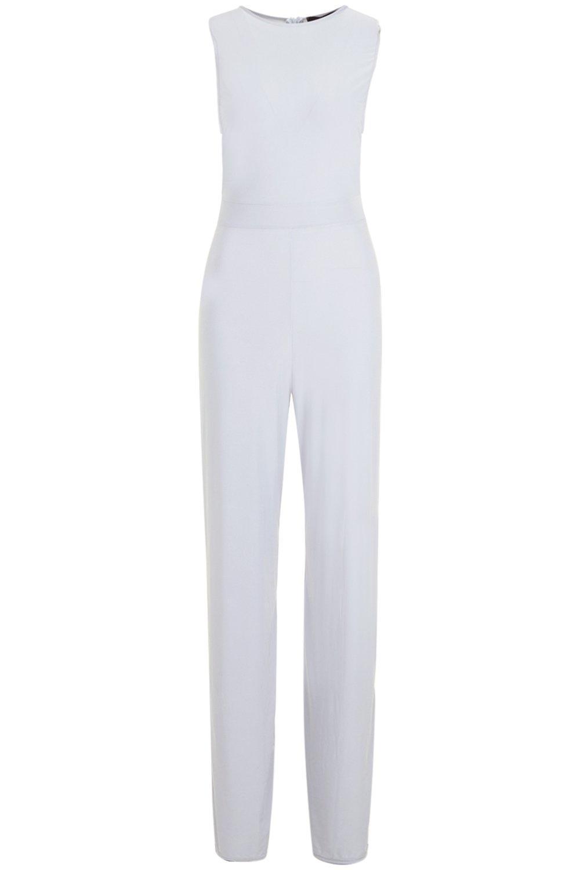 39589a62c8c8 Boohoo - Gray Side Boob Slinky Jumpsuit - Lyst. View fullscreen