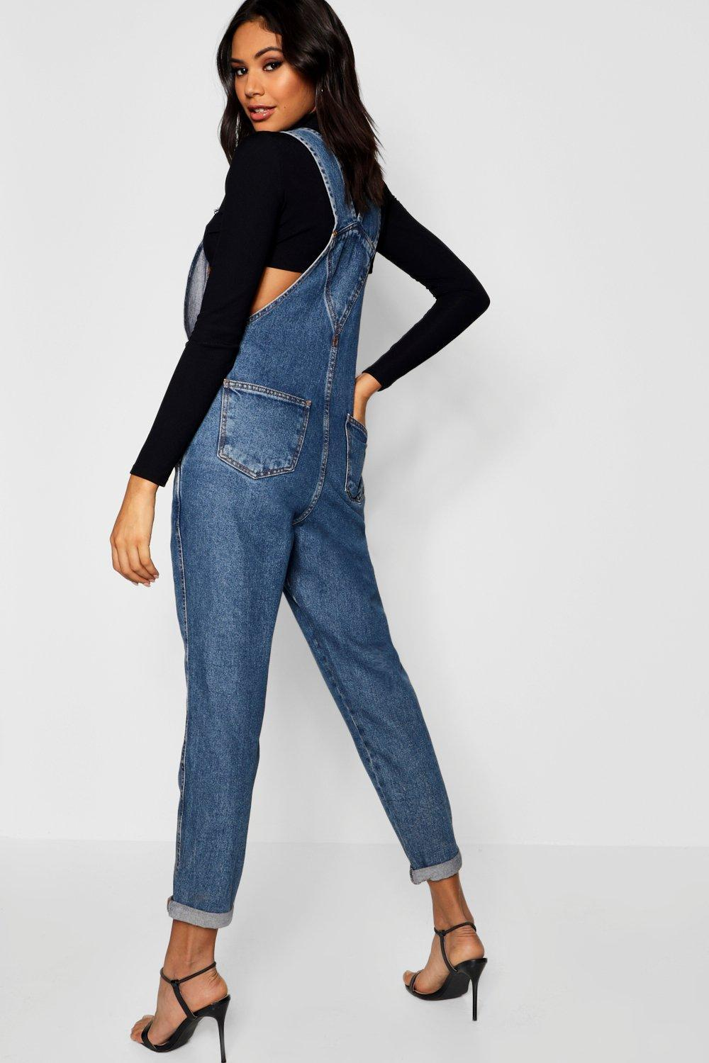 0612cb272030 Boohoo - Blue Denim Dungarees - Lyst. View fullscreen