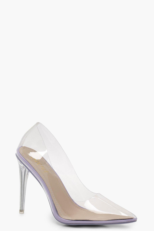 267e12a172 Boohoo Clear Court Heels in Purple - Lyst