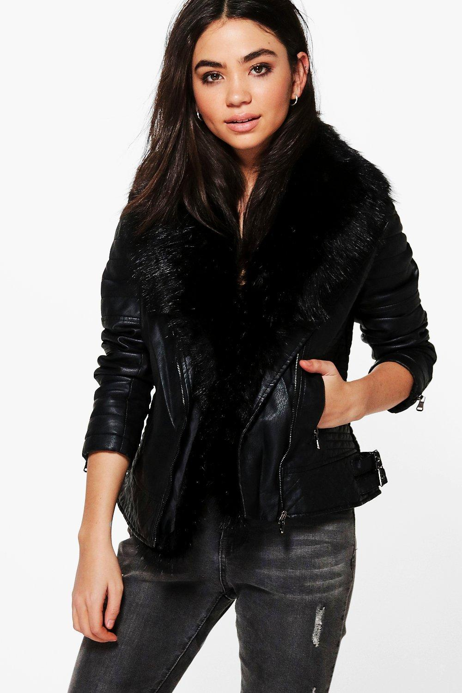 Leather jacket boohoo - Gallery