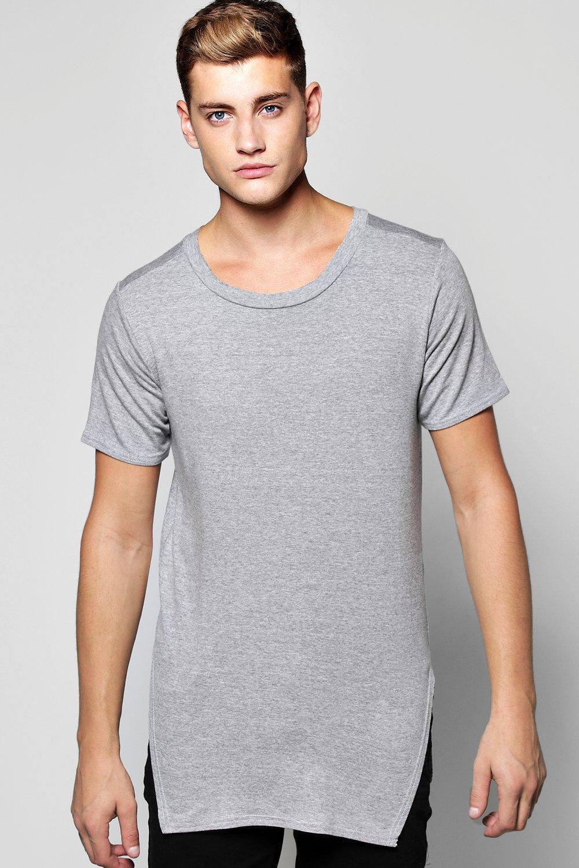 Boohoo Oversized Sweatshirt With Triangle Hem in Gray for Men | Lyst