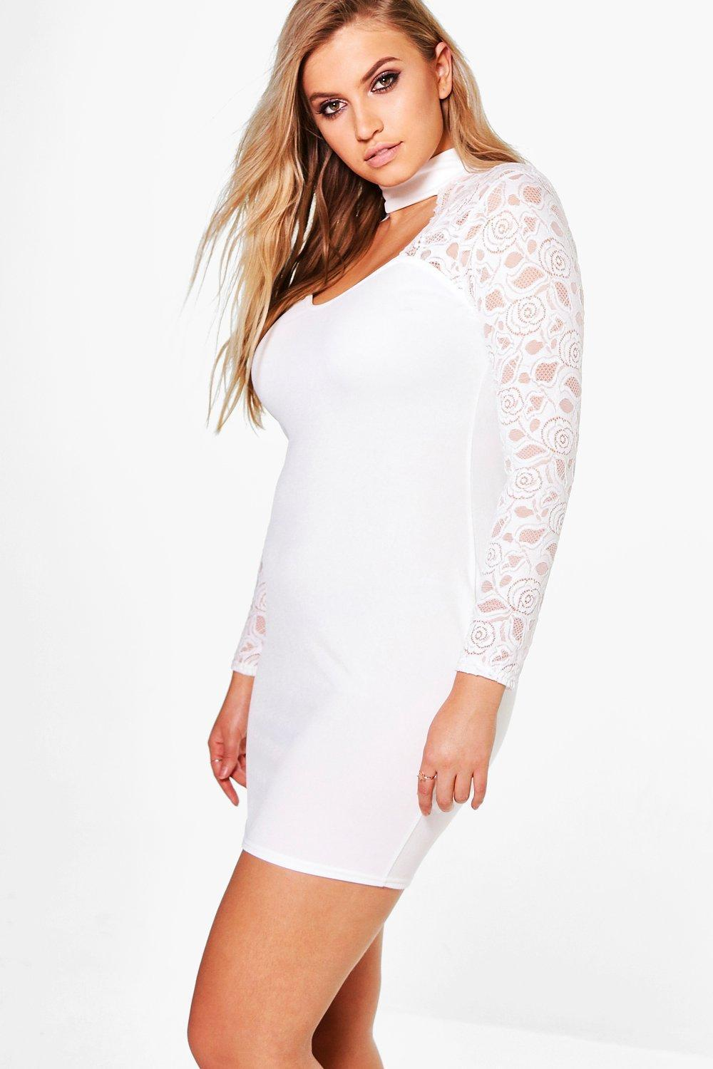 70c0abd45681 Gallery. Previously sold at: Boohoo · Women's White Lace Dresses ...