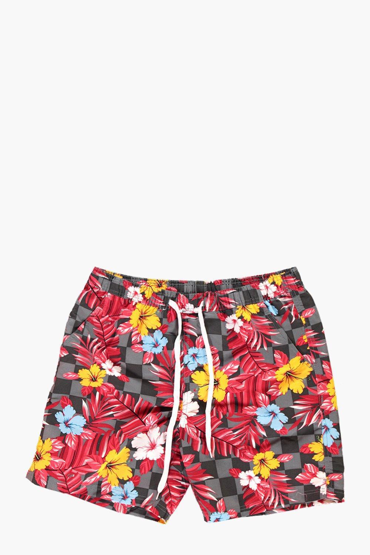 4cc627a13dee2 Lyst - Boohoo Floral Print Swim Shorts for Men
