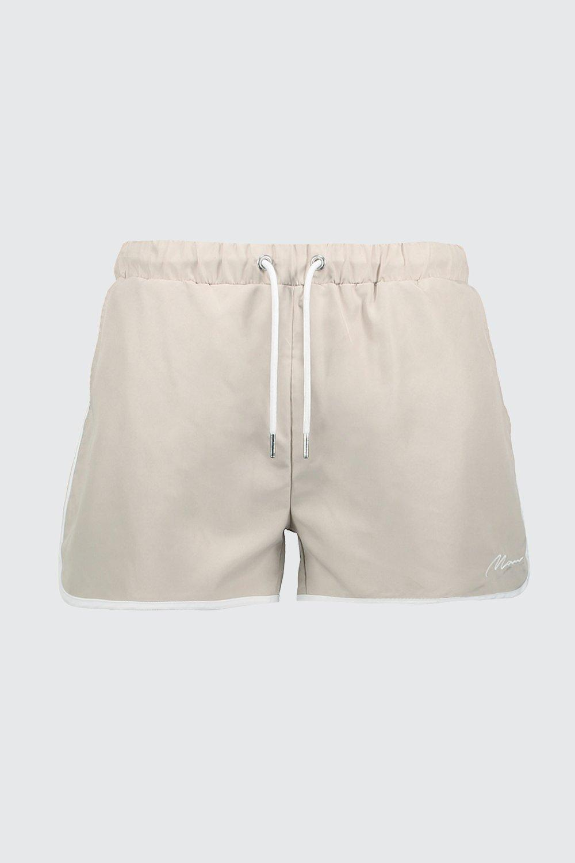 91bf11aab9b63 BoohooMAN - Multicolor Man Signature Runner Swim Shorts for Men - Lyst.  View fullscreen