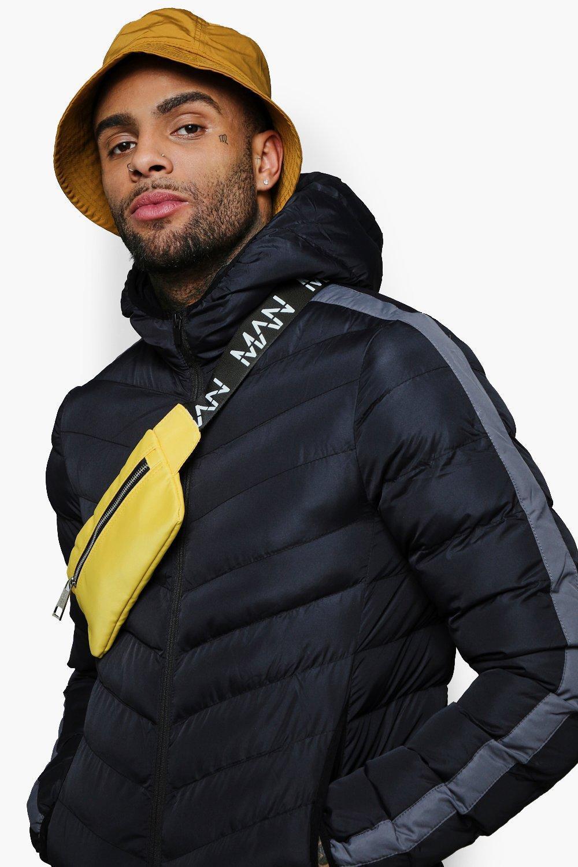 32dd55373379 Lyst - Boohooman Mini Man Branded Cross Body Bag in Yellow for Men