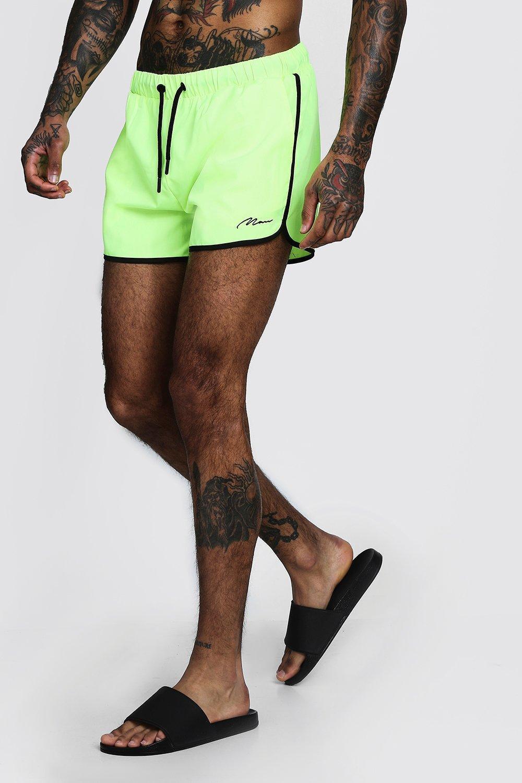 38518766bec21 Lyst - BoohooMAN Man Signature Runner Swim Short for Men