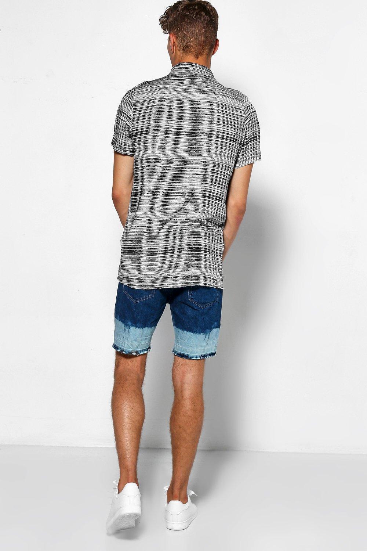 865a05572edb Boohoo - Blue Skinny Fit Denim Shorts With Bleached Hem for Men - Lyst.  View fullscreen