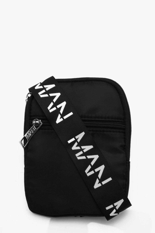 99fd79e8994e Lyst - Boohoo Nylon Man Strap Cross Body Bag in Black for Men