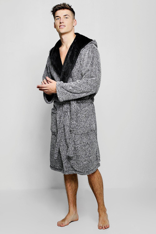 d05937372ea1 Lyst - Boohoo Mens Shaggy Fleece Dressing Gown in Gray for Men