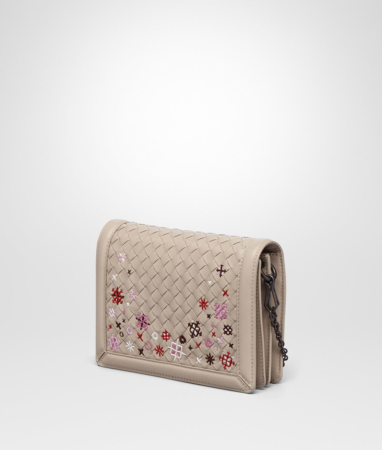 Lyst - Bottega Veneta Mink Intrecciato Meadow Flower Mini Montebello Bag b5daa3a2145ee