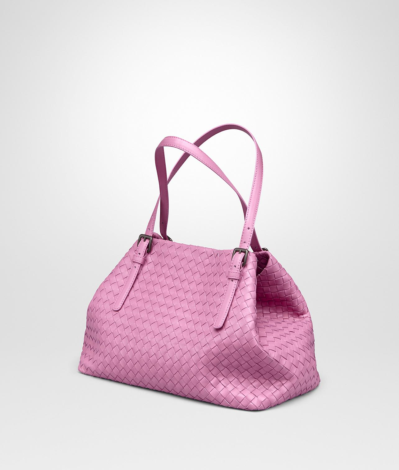 c84558703a Bottega Veneta - Pink Twilight Intrecciato Nappa Medium Cesta Bag - Lyst