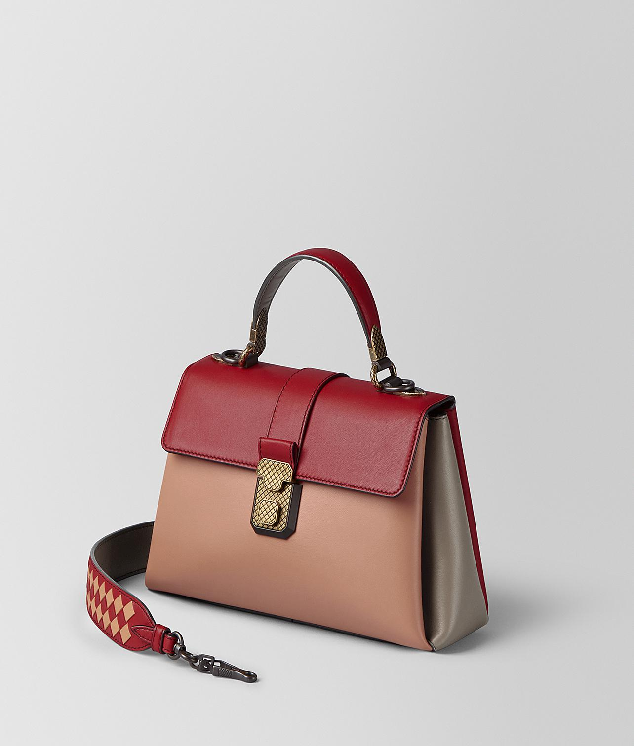 8ecbe9d764e0 Lyst - Bottega Veneta Small Piazza Bag in Red