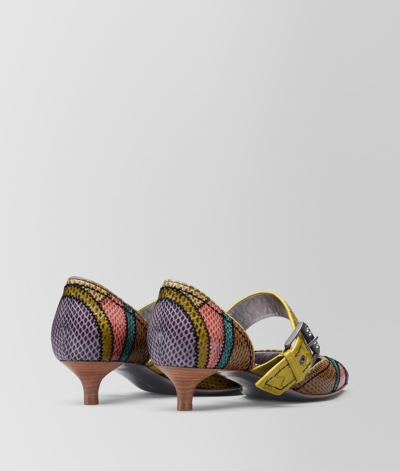 e606f7711c0 Lyst - Bottega Veneta Multicolor Ayers D orsay Kitten Heel