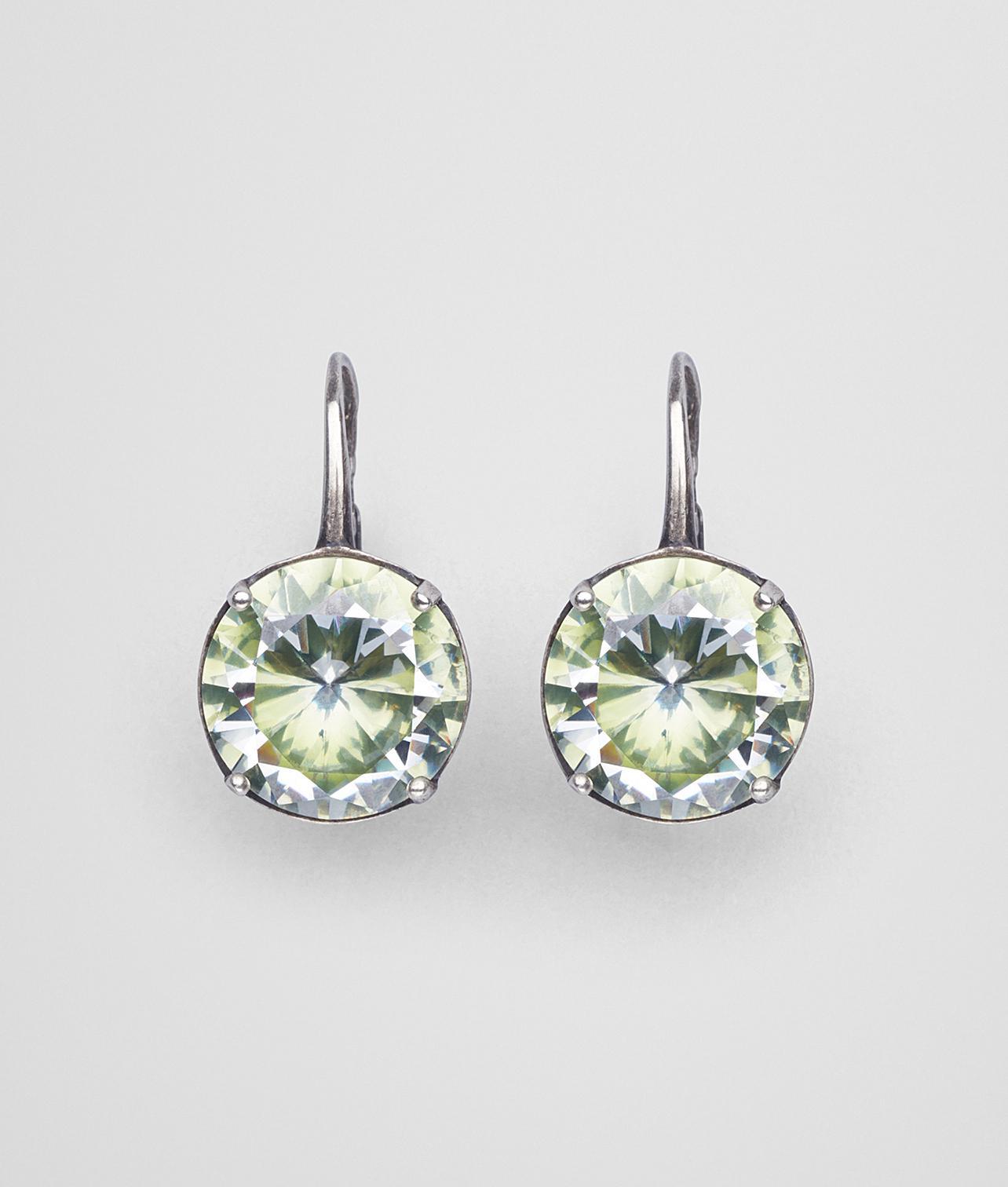 Bottega Veneta Chamomile Cubic Zirconia/Oxidized Silver Earrings Naturale chamomile 3nJsaClSj