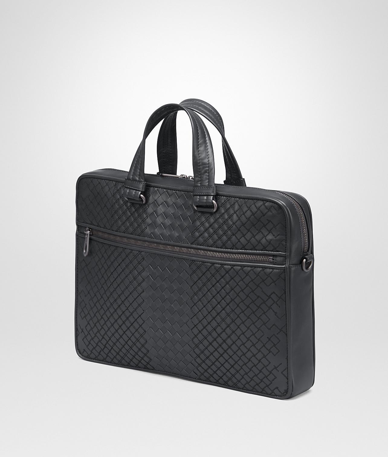 8463e584b6bc Bottega Veneta Ardoise Intrecciato Aurelio Calf Briefcase in Black for Men  - Lyst