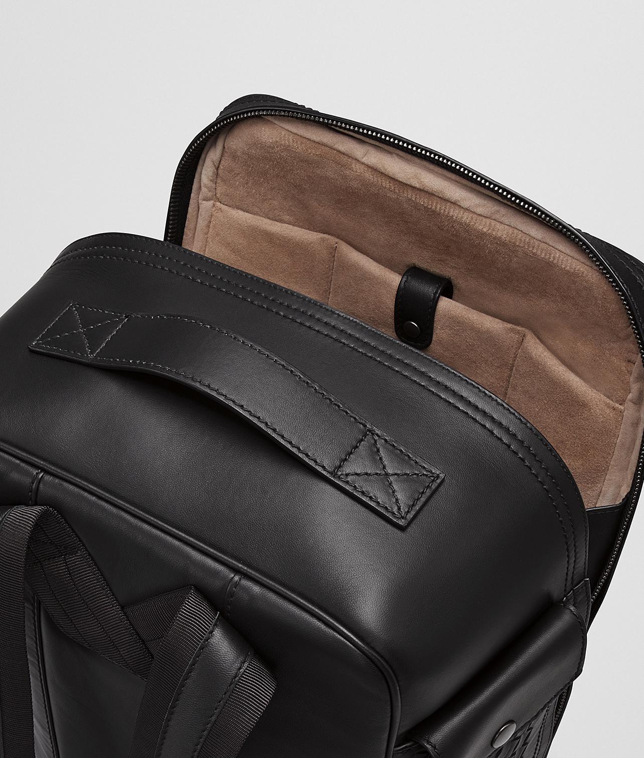 522a4e24c7 Lyst - Bottega Veneta Nero Nappa precious Mix Strade Brick Backpack ...