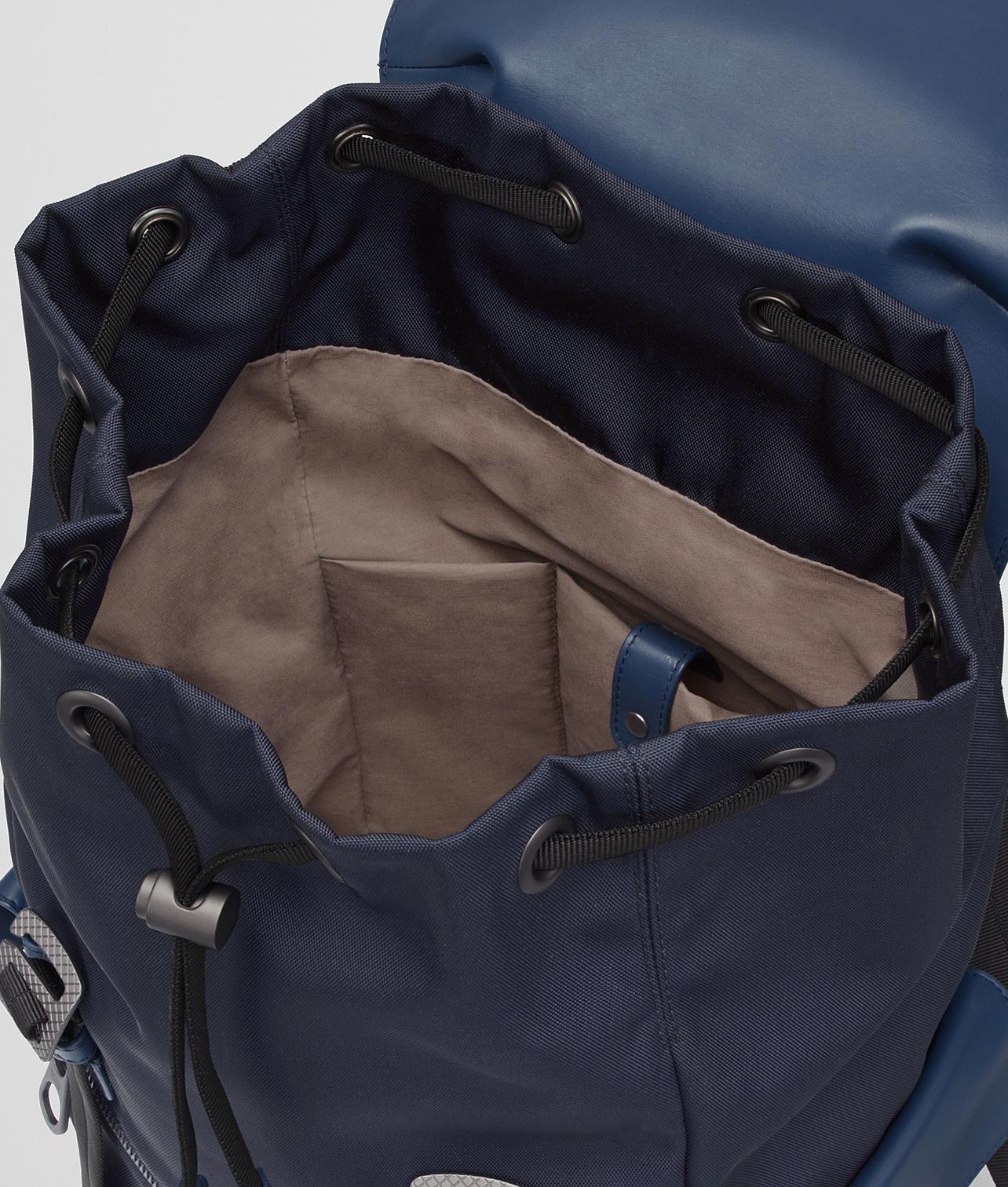 Bottega Veneta - Blue Tourmaline pacific Hi-tech Canvas Sassolungo Backpack  for Men -. View fullscreen 6c6ab53f8ae63