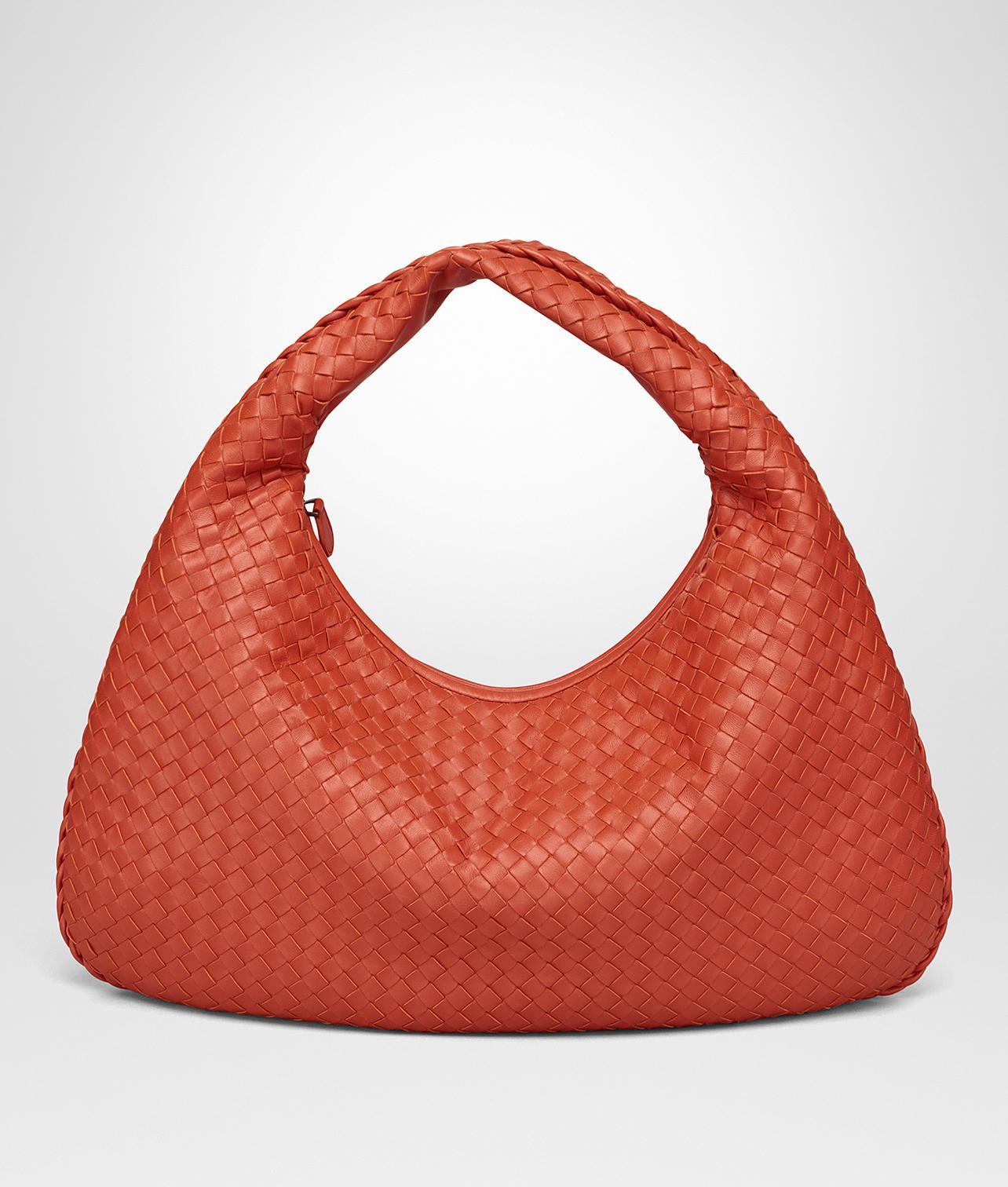 e46c413ea0b4 Bottega Veneta Terracotta Intrecciato Nappa Large Veneta Bag in Red ...