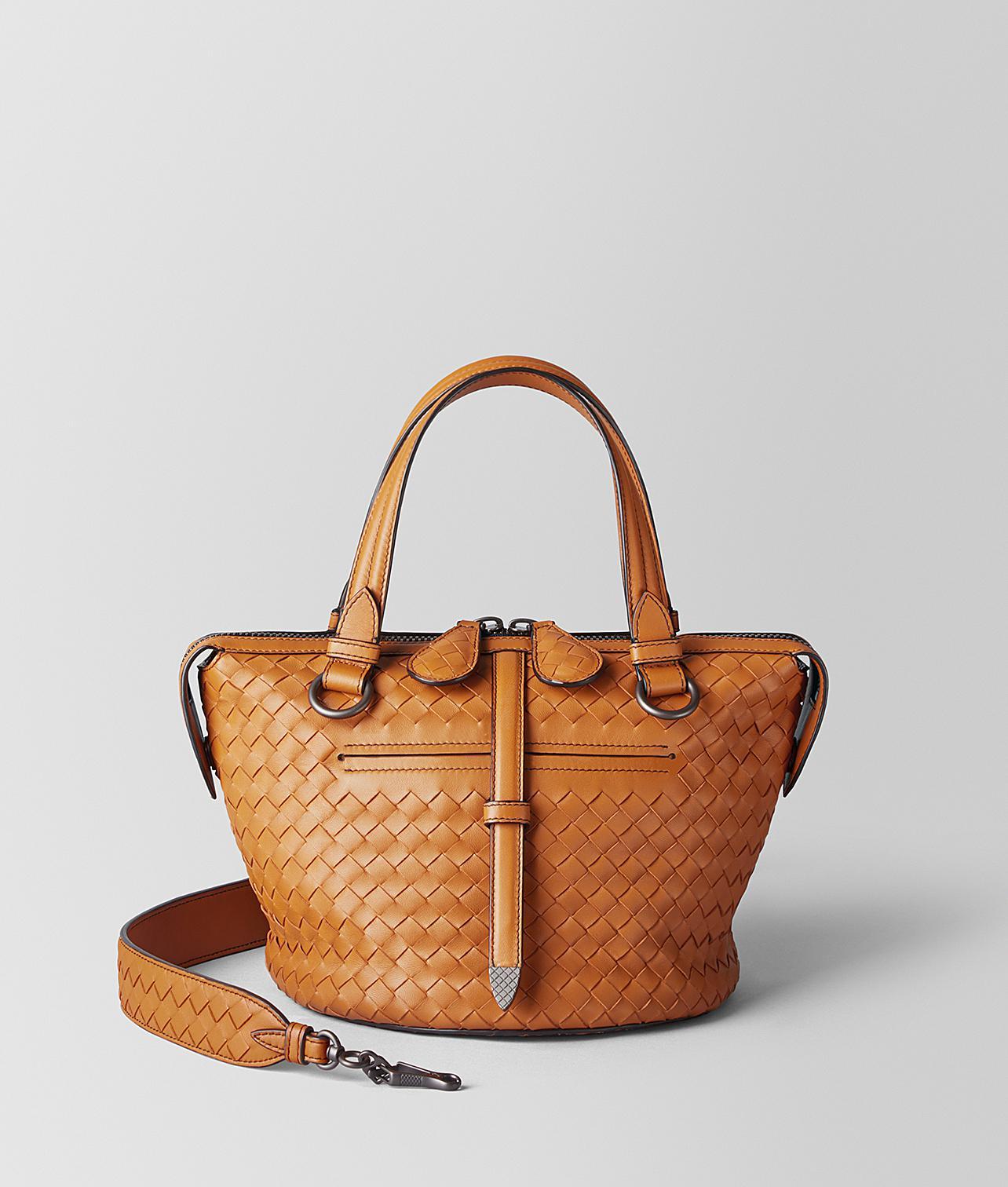 Lyst - Bottega Veneta Orange Intrecciato Nappa Tambura Bag in Orange 95d021eb9d427