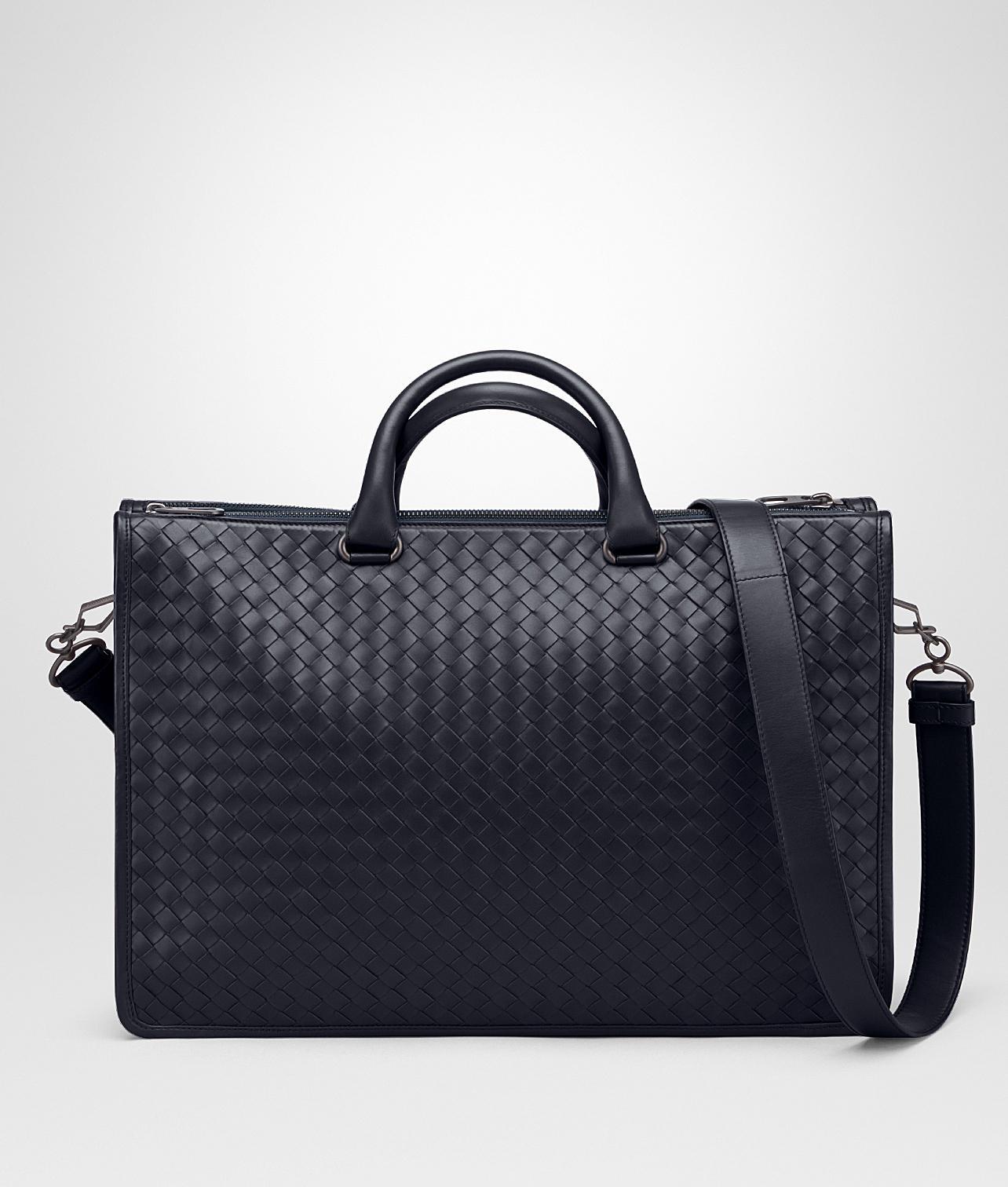9b4f8c2be103 Bottega Veneta Prusse Intrecciato Calf Briefcase in Black for Men - Lyst