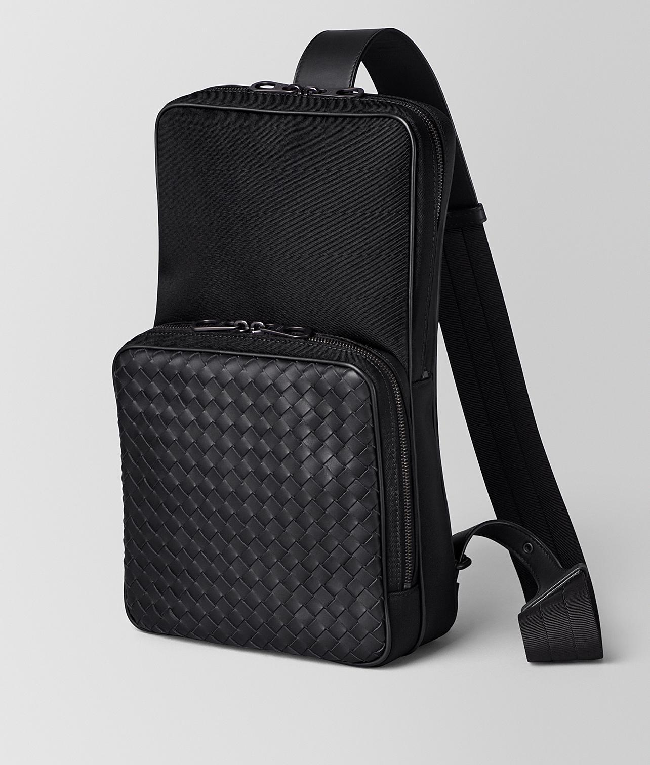Lyst - Bottega Veneta Nero Hi-tech Canvas Sling Backpack in Black for Men 0697da3ccd