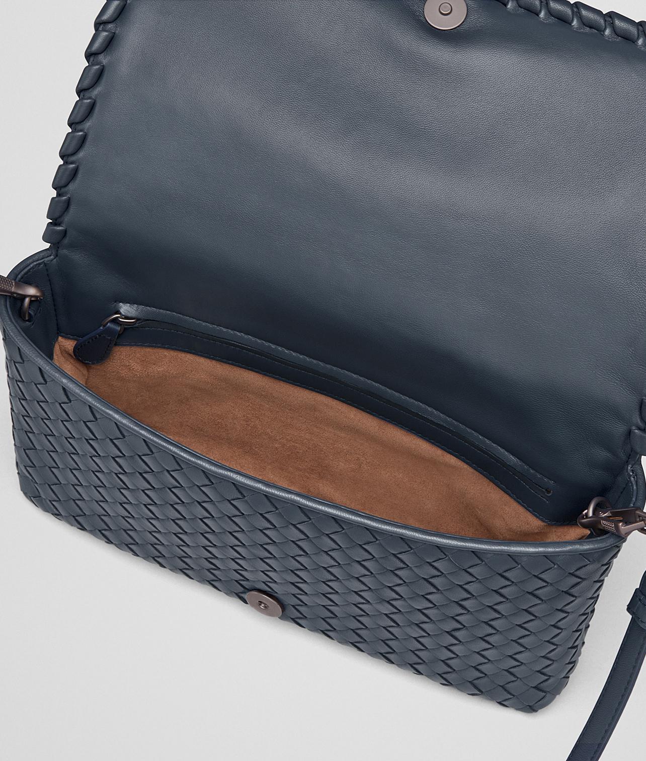 8c04f8c9d82 Bottega Veneta Medium Clutch Bag in Blue - Lyst