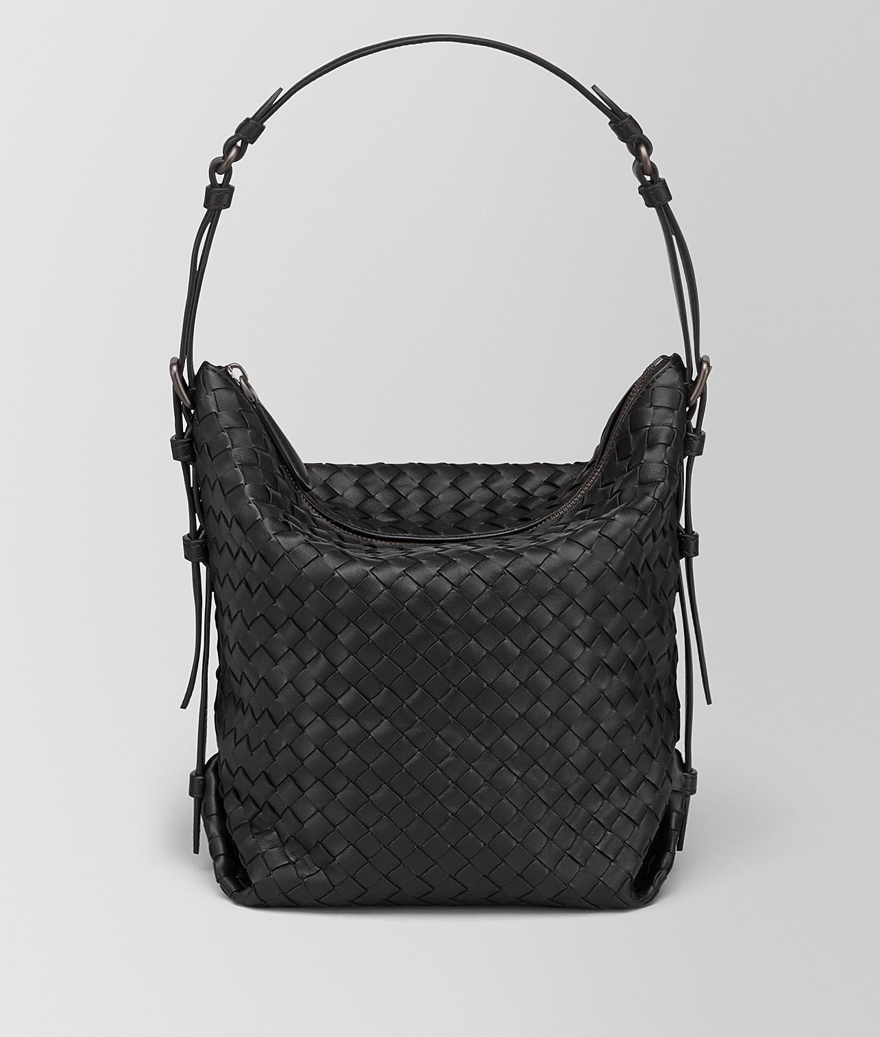 Lyst - Bottega Veneta Nero Intrecciato Nappa Medium Osaka Bag in Black dd2f1eff7d