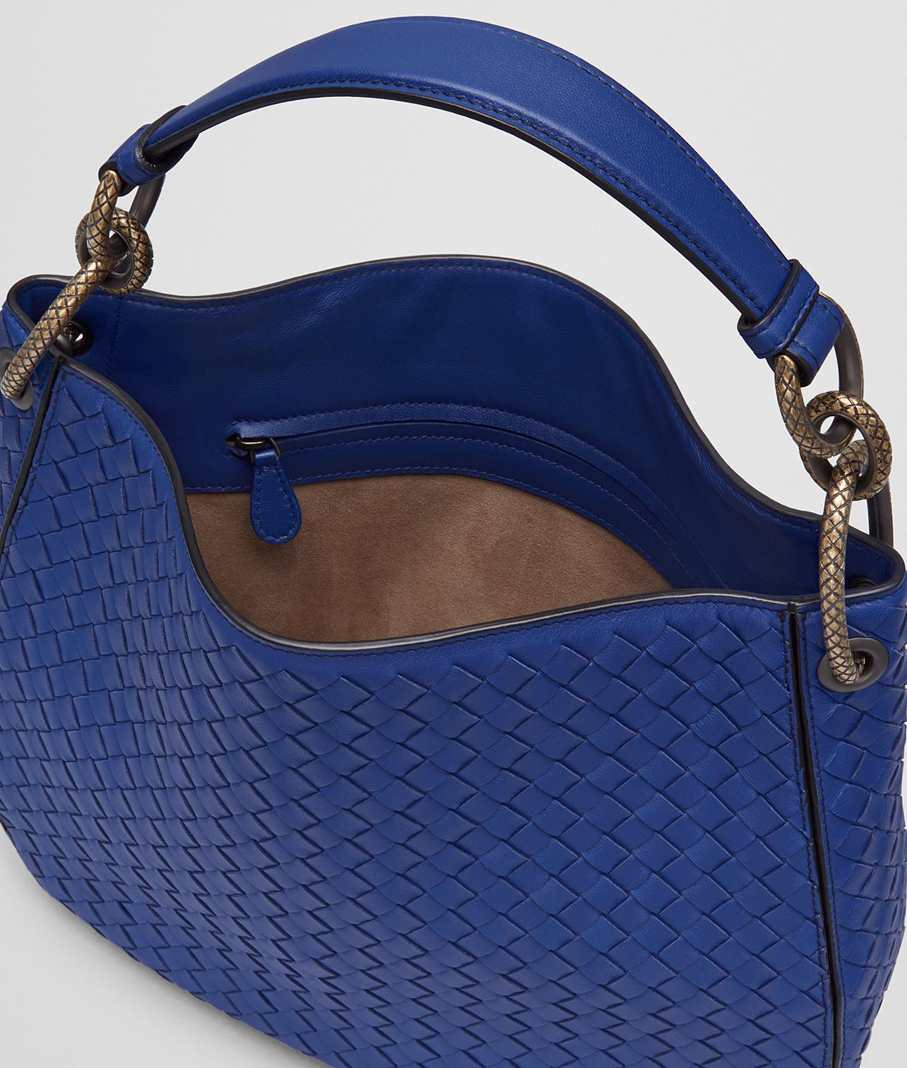 d72ea3c1b88d Lyst - Bottega Veneta Cobalt Intrecciato Nappa Loop Bag in Blue