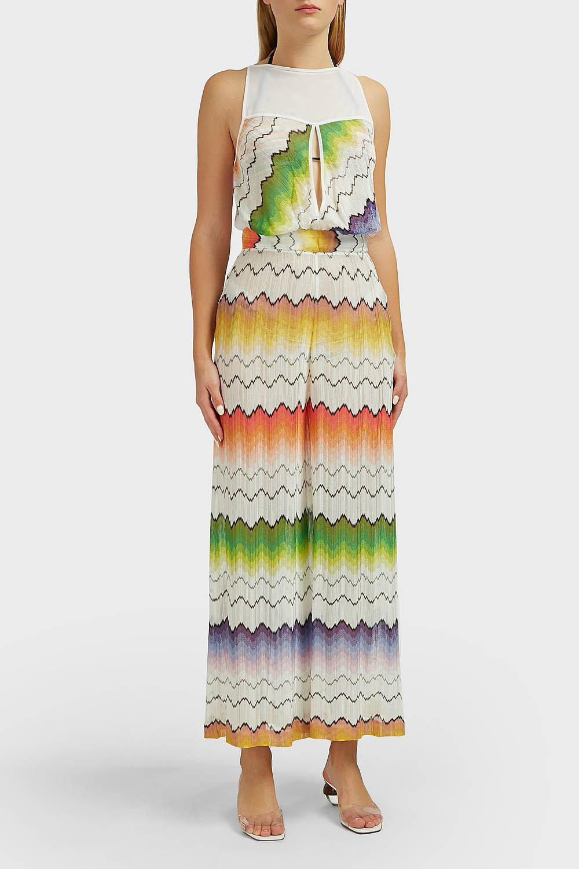 00067038a3e Missoni - Multicolor Zig Zag Knit Jumpsuit - Lyst. View fullscreen