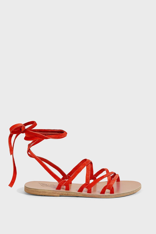tie Simply Kariatida sandals - Yellow & Orange Ancient Greek Sandals qAHrEBcNw