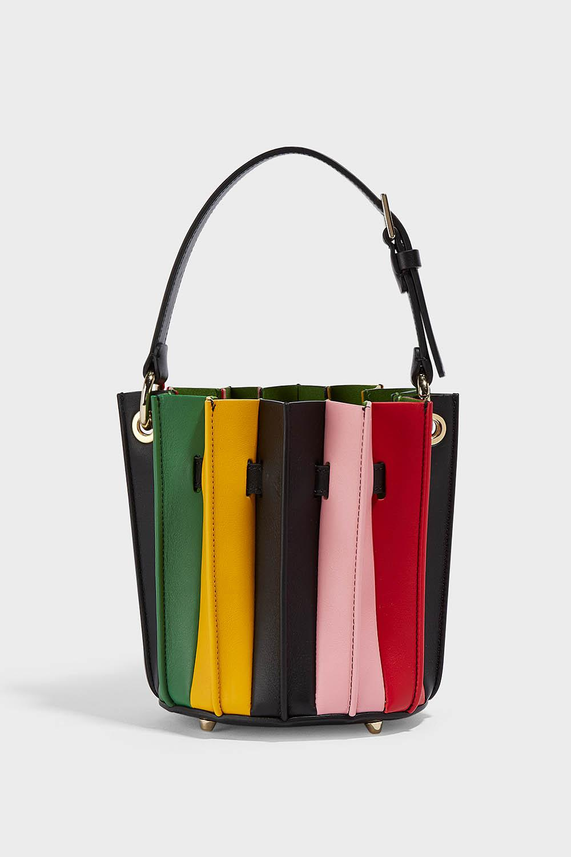 Sara Battaglia plissè mini bucket bucket bag eUUOY