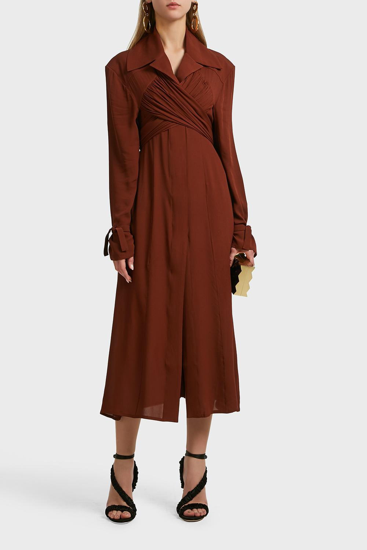 loose fit long dress - Brown Jacquemus wuCVLNEnJ