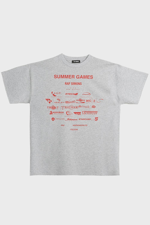 53d4d18467f7 Lyst - Raf Simons Summer Games Cotton T-shirt for Men
