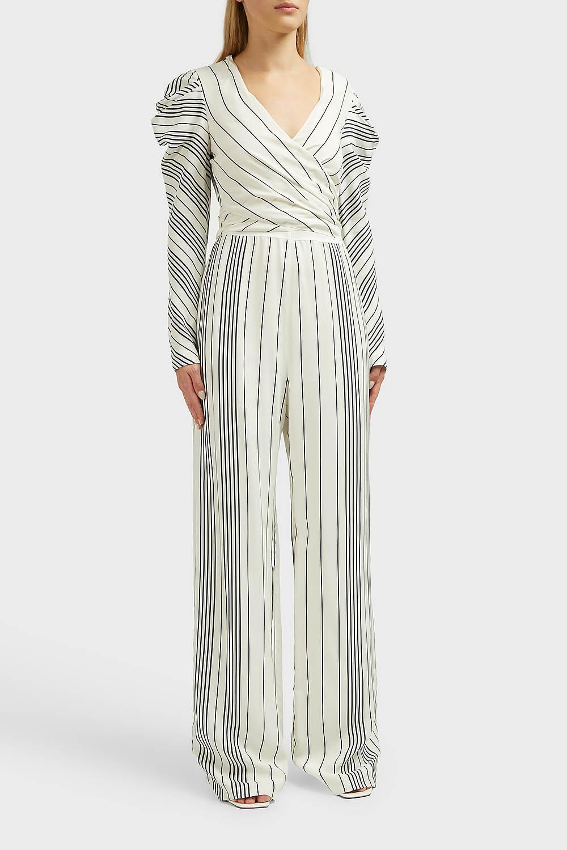 4f20278075cf Jonathan Simkhai - Multicolor Striped Long Sleeves Jumpsuit - Lyst. View  fullscreen