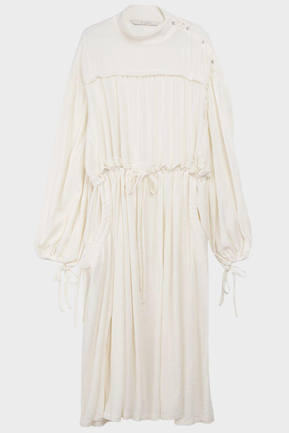 Lyst Af White In Gauze Cotton Agger Dress wOB6fw