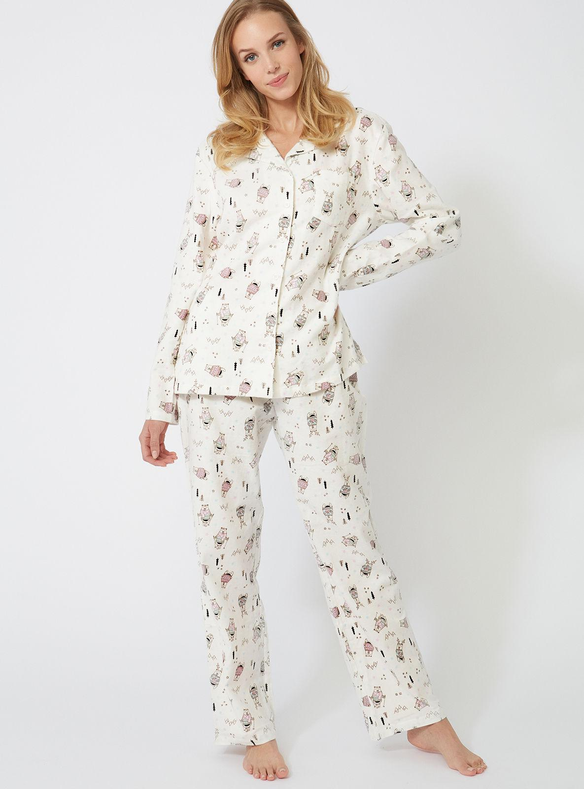 f742a1e167 Lyst - Boux Avenue Skiing Bear Pjs In A Bag in White