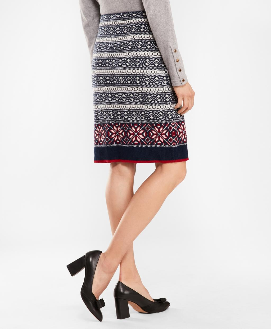 1e9ee8b73a Lyst - Brooks Brothers Fair Isle Stretch Wool Knit Skirt in Blue - Save 25%