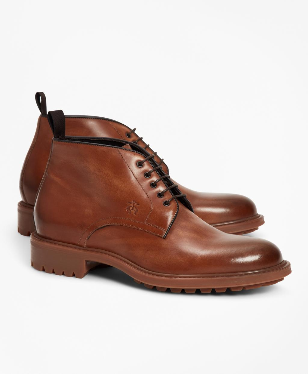 a579d71b50a Brooks Brothers. Men s Brown 1818 Footwear Lug-sole Leather Chukka Boots