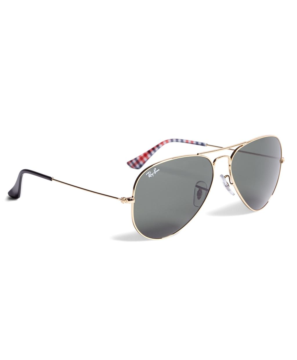 9d5e30718a Lyst - Brooks Brothers Ray-ban® Aviator Sunglasses With Gingham in ...