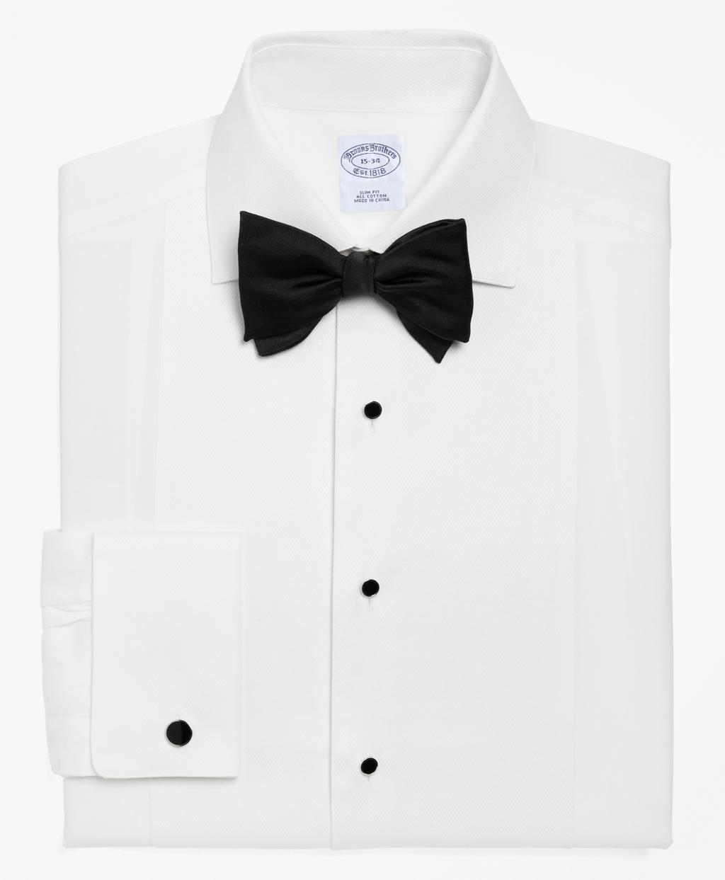 Brooks brothers regent fit bib front spread collar tuxedo for Tuxedo shirt bib front
