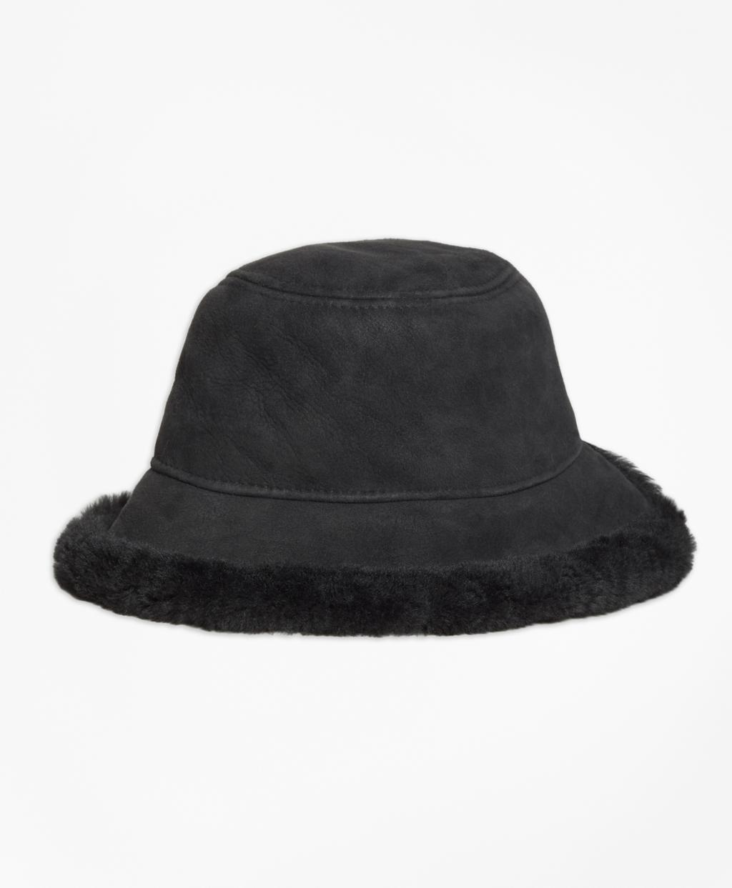 873932ff587a9 Lyst - Brooks Brothers Shearling Bucket Hat in Natural