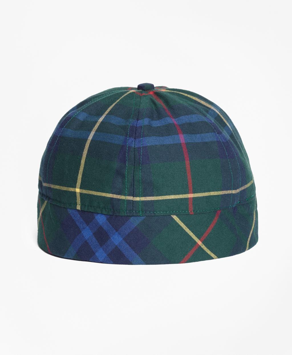 51d9902c1f9 Lyst - Brooks Brothers Tartan Wool-blend Cap in Green for Men